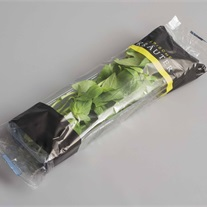 herbs - platic tray with flowpack film