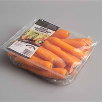 carrots - plastic tray with topseal film