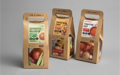 Carry-Box for soup & fresh produce meal packages
